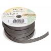 Flat Leather 10x2mm (5m Spool) Metallic Steel Grey